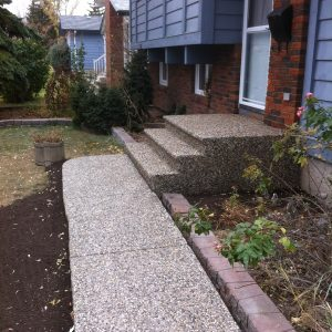 Exposed Aggregate front steps and walkway