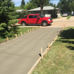 Another beautiful broom finished driveway by Pete's Concrete