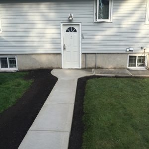 The back of a home broom finished walkway